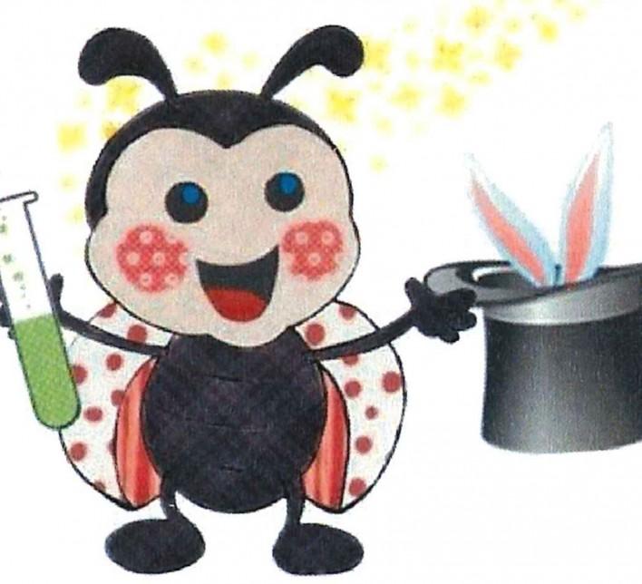 debuxo dunha formiga facendo maxia