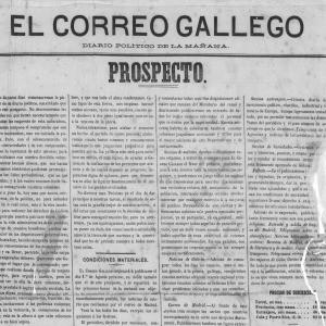 Páxina de El Correo Gallego de 1878