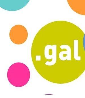 Globos de colores y dentro 'punto gal'