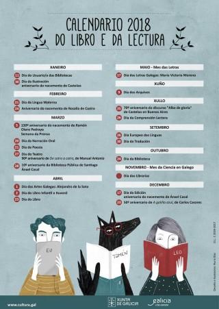 Calendario do Libro e a Lectura 2018