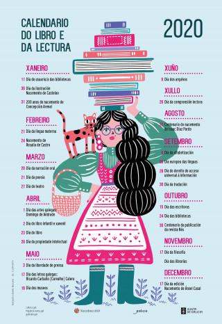 Calendario do libro e a lectura 2020